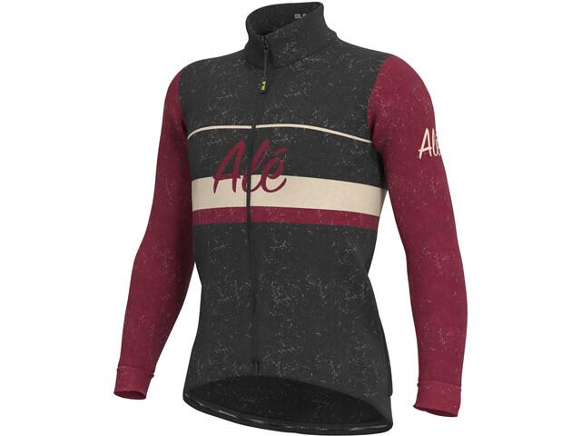 Alé Cycling Classic Storica Chaqueta Hombre, negro/rojo